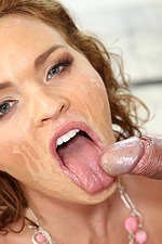 Brunette Kinky Bitch Gets Facial Cumshot 12