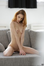 Sexy Redhead Teen Tina Blade Strips To Naked 12