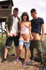Outdoor Threesome 04