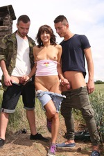 Outdoor Threesome 05