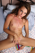 Ally Tate Strips In Her Bed 05