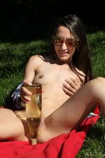 Freya Von Doom Srtips And Plays With A Bottle 19