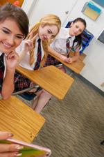Schoolgirls In Kinky Lesbian Love In The Classroom 07