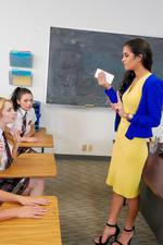 Schoolgirls In Kinky Lesbian Love In The Classroom 08