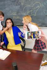 Schoolgirls In Kinky Lesbian Love In The Classroom 11