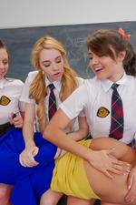 Schoolgirls In Kinky Lesbian Love In The Classroom 18