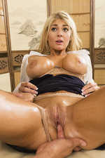 Breasted Oiled Blonde Pounded 07
