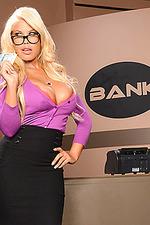 Busty Blonde Secretary Bridgette 00