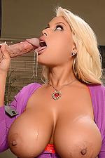 Busty Blonde Secretary Bridgette 02