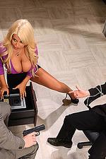 Busty Blonde Secretary Bridgette 06