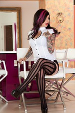 Joanna Hot Tattooed Burning Angel 05