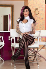 Joanna Hot Tattooed Burning Angel 06