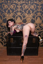 Joanna Angel Hot Tattooed Babe Strips 19