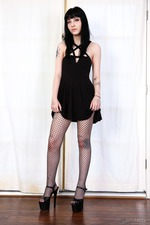 Tiny Babe Charlotte Sartre In Sexy Fishnet Pantyhose 00