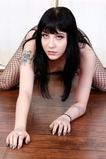 Tiny Babe Charlotte Sartre In Sexy Fishnet Pantyhose 06