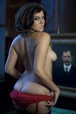 Imogen Thomas Strips At Home 06