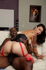Dana Vespoli Rides A Huge Black Cock 00