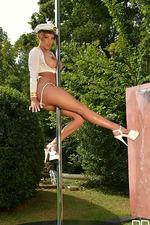 Busty Loulou Petite Pole Dancing 09