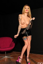 Becky Holt Amazing Tattooed Babe Strips 05