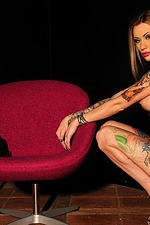 Becky Holt Amazing Tattooed Babe Strips 06