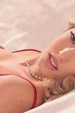 Eva Parcker Red Lingerie 07