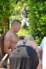 Victoria Summers In Threesome Outside 01