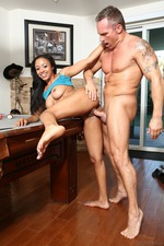 Busty Ebony Anya Ivy Fucked On The Pool Table 09