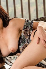 Megan Sage Masturbates On The Terrace 02