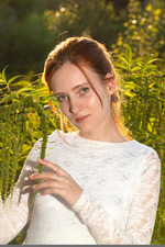 Redhead May In The Nature 00