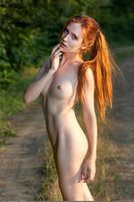 Redhead May In The Nature 04
