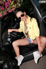 Anastasia Harris Spreads In A Car 03