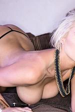 Busty Blonde Glamour Model Cara Brett 13