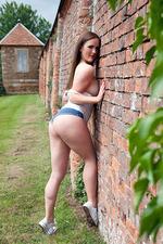 Victoria Roberts In Tiny Denim Shorts 13