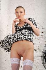Marrina Black White Dress 05
