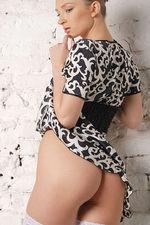 Marrina Black White Dress 08