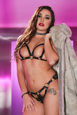 Karlee Grey In Sexy Leather Lingerie 03