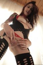 Anna De Ville Spreading In Sexy Fishnet Stockings 06