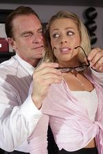 Blonde Secretary Pounded On Table 00