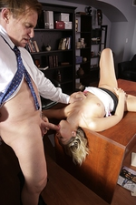 Blonde Secretary Pounded On Table 15