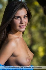 Pretty Brunette Arina Strips To Naked In The Nature 03