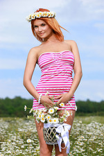 Dina Posing Naked Outdoors 00