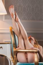 Sexy Blonde Vika Spreads Her Legs 20