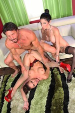 A Lucky Guy Is Pleasured By Two Sesxy Pornstars 05