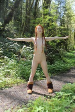 Dolly Naked In The Nature 18