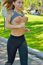 Sporty Charlotte Stripping Public 06