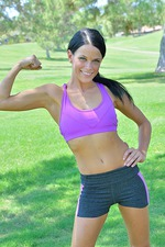 Mya Strips Out Her Gym Dress In A Public Park 00