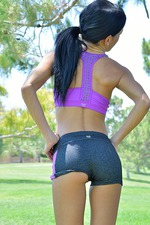 Mya Strips Out Her Gym Dress In A Public Park 04