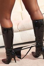 Hot Blonde Jenni In Latex 12
