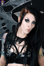 Hot Goth In Fishnet 03