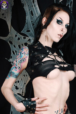 Hot Goth In Fishnet 12